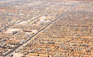 Za'atrin pakolaisleiri (Jordania) ilmasta 18.7.2013. (kuva: Wikimedia Commons)